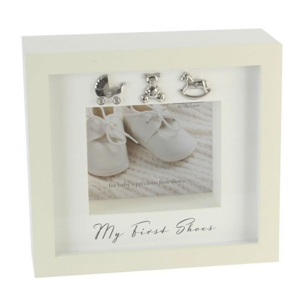 Baby's First Shoes Presentation Frame - Unique Gifts For Baby Christening - New Baby Gifts